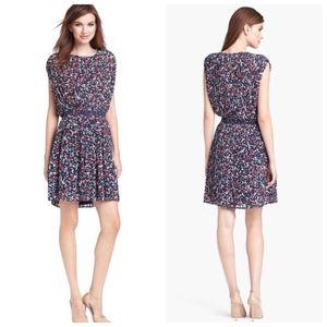 Joie Multicolor Halsette Silk pleated dress